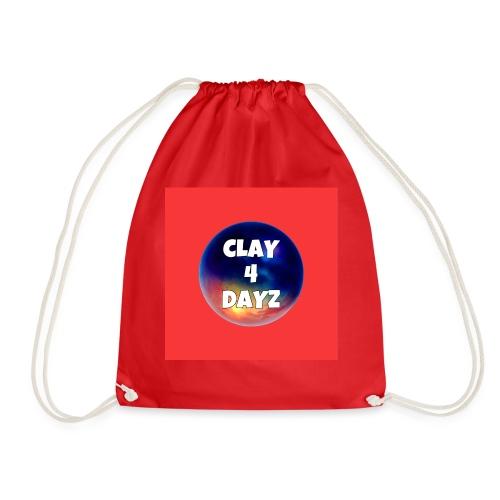 CLAY 4 DAYZ: GALAXY LOGO (RED) - Drawstring Bag