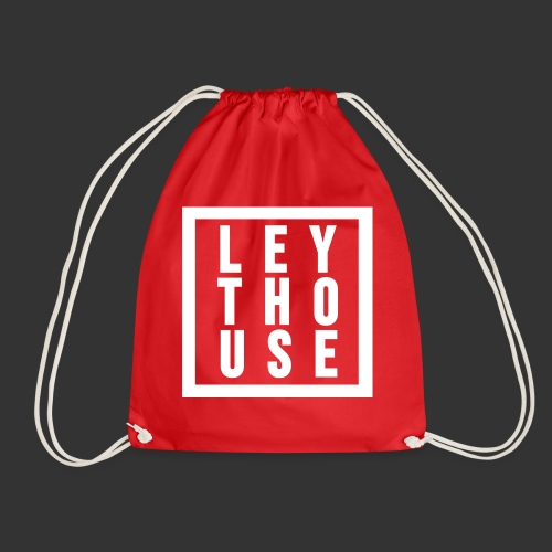 LEYTHOUSE Square white - Drawstring Bag