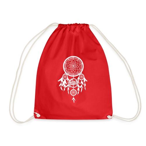 Hello Dreams, White - Drawstring Bag