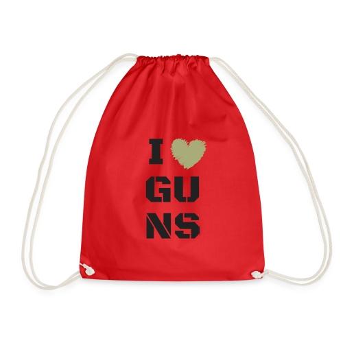 I LOVE GUNS - Worek gimnastyczny