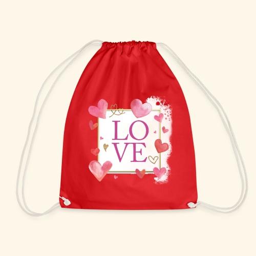LOVE E HEARTS - Sacca sportiva