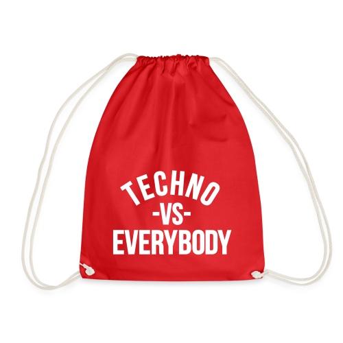 Techno vs everybody - Drawstring Bag