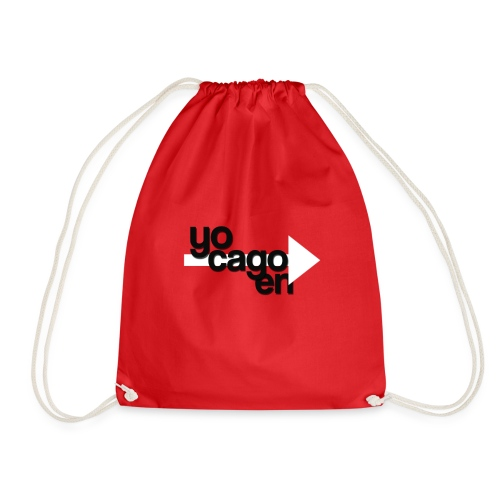 YO CAGO EN -> DESIGN - funny design. - Drawstring Bag
