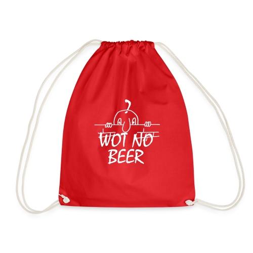WOT NO BEER - Drawstring Bag