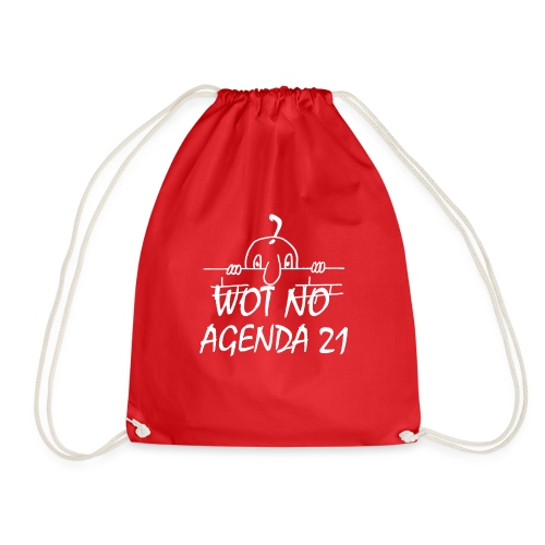 WOT NO AGENDA 21 - Drawstring Bag