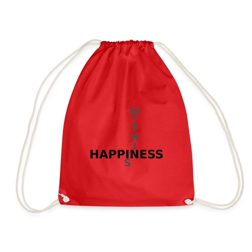 Happiness is Within - Drawstring Bag