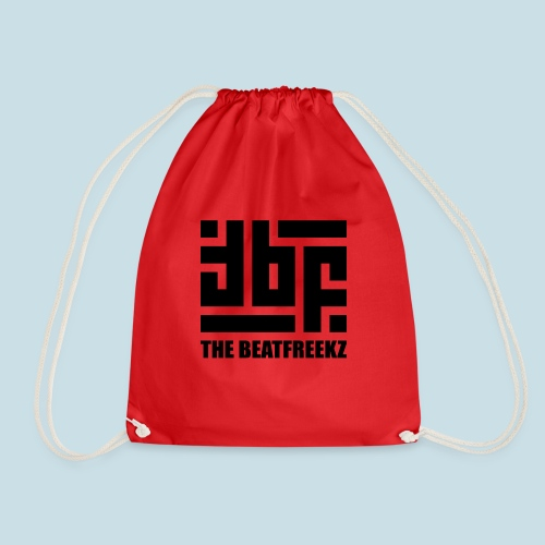 the beatfreekz logo 3 black - Drawstring Bag