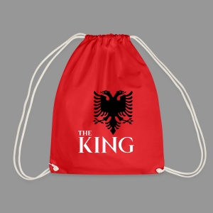 The king of albania kosovo albanisch t-shirt - Turnbeutel