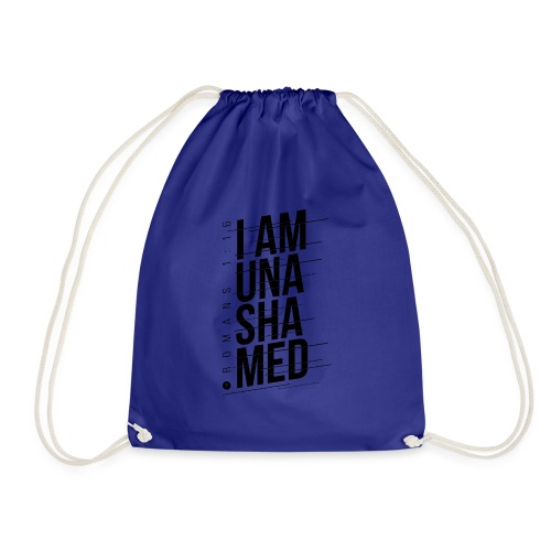 I am Unashamed Romans 1:16 Christian T Shirt - Drawstring Bag