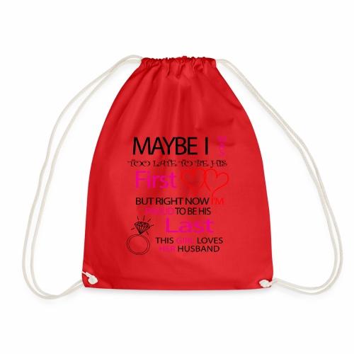 Ich liebe meinen Mann - Geschenkidee - Drawstring Bag