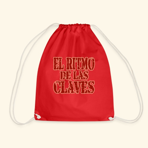 Clave rhythm salsa music dance gift - Drawstring Bag