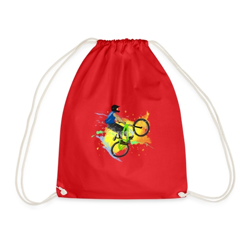 d1 1bike - Drawstring Bag