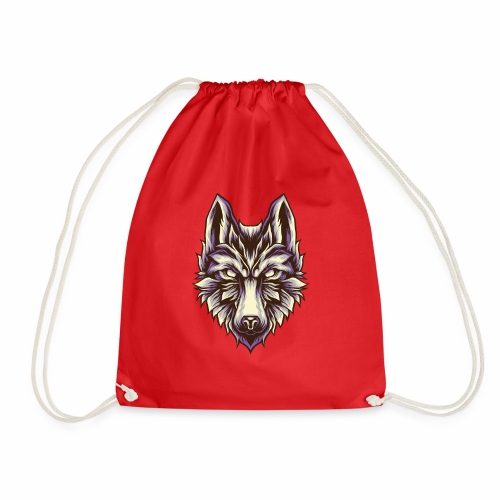Wolf T-Shirt Retro Vintage White Wolves Canine Dog - Drawstring Bag