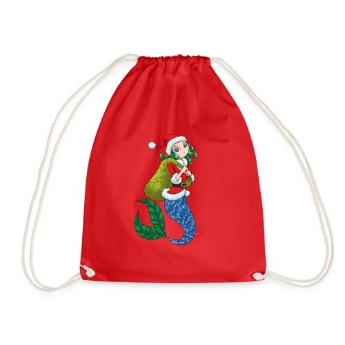 Meerjungfrau Weihnachtsmann Weihnachten Geschenk - Turnbeutel