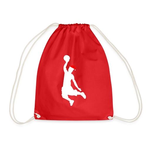 Basketball Player Silouette - Drawstring Bag