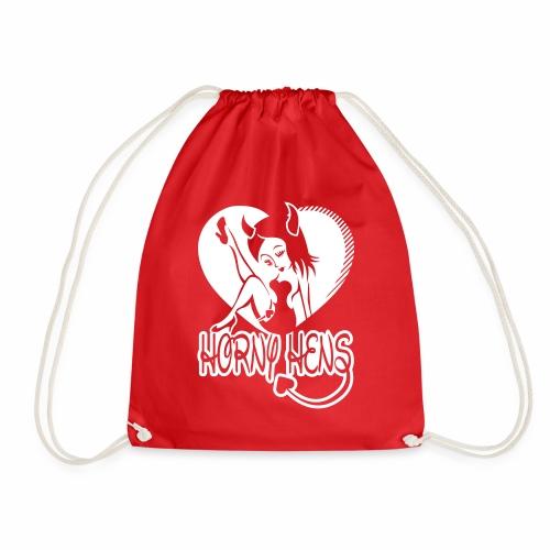 Horny Hens Heart - Drawstring Bag