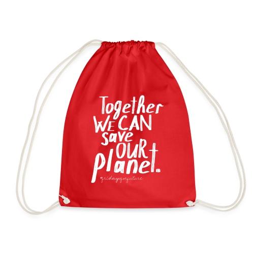 fridays for future | Together save Planet Klima - Turnbeutel