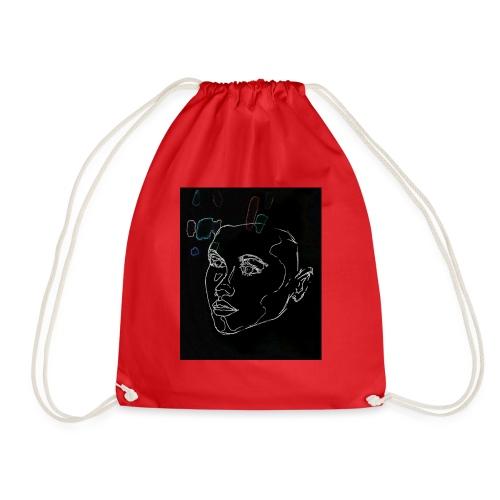 Bits of neon - Drawstring Bag