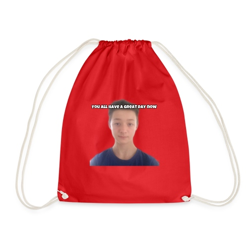 Creeper Ben Face With Outro - Drawstring Bag