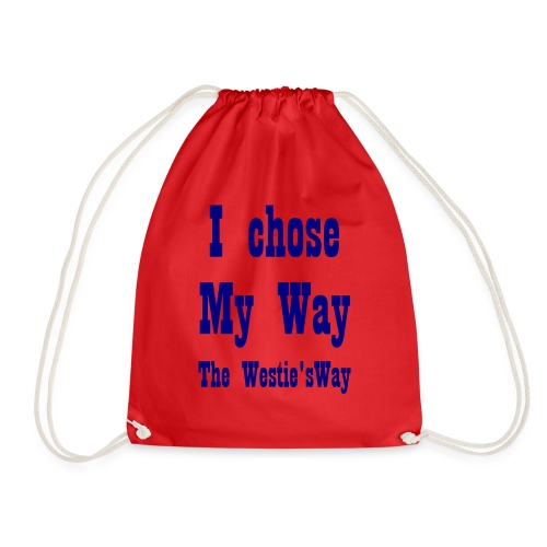 I chose My Way Navy - Drawstring Bag