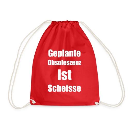 Obsoleszenz Weiss Schwarz - Turnbeutel