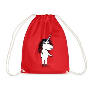 Angry unicorn - Drawstring Bag
