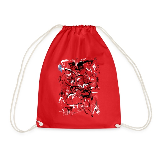 art of shaolin - Drawstring Bag