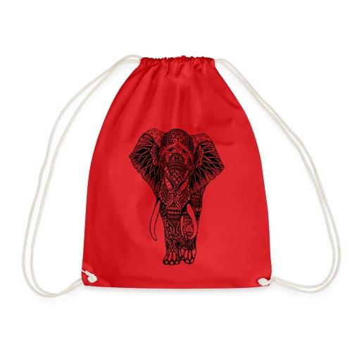 Good Luck Mandala Elephant Designer Animal Love - Drawstring Bag