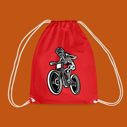 BMX / Mountain Biker 04_schwarz weiß - Turnbeutel