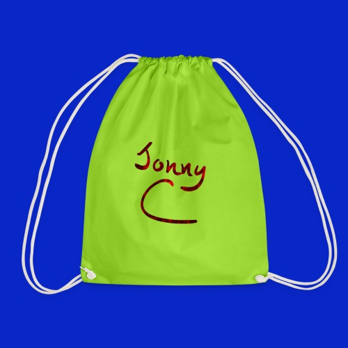Jonny C Red Handwriting - Drawstring Bag