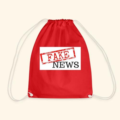 fake news - Drawstring Bag