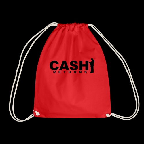CASH RETURNS Logo (Black) - Drawstring Bag
