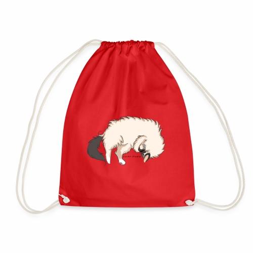 Sleeping Sacred Birman Cat - Drawstring Bag