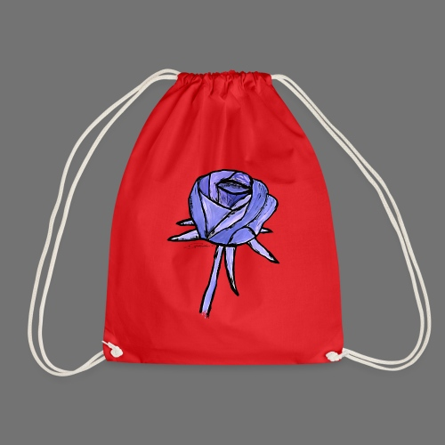 Rose blue sixnineline style - Drawstring Bag