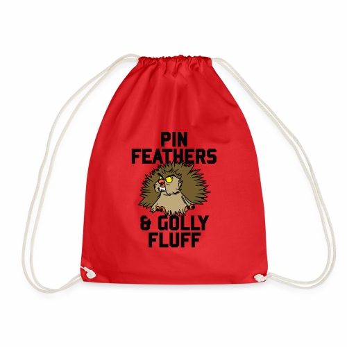 Archimedes - Pin feathers and golly fluff - Drawstring Bag