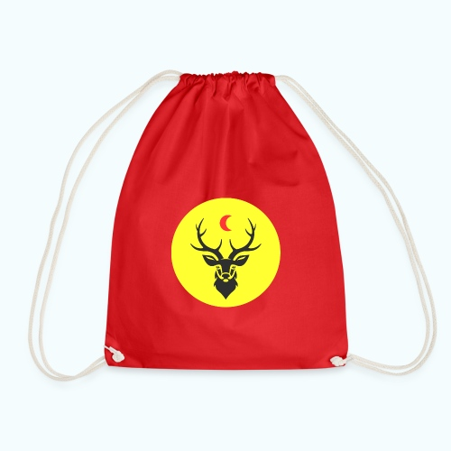 Hipster deer - Drawstring Bag