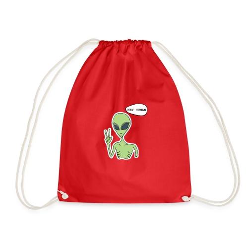HEY HUMAN copy - Drawstring Bag