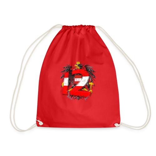 Österreich-Adler 12. Mann rot-weiß-rot - Turnbeutel