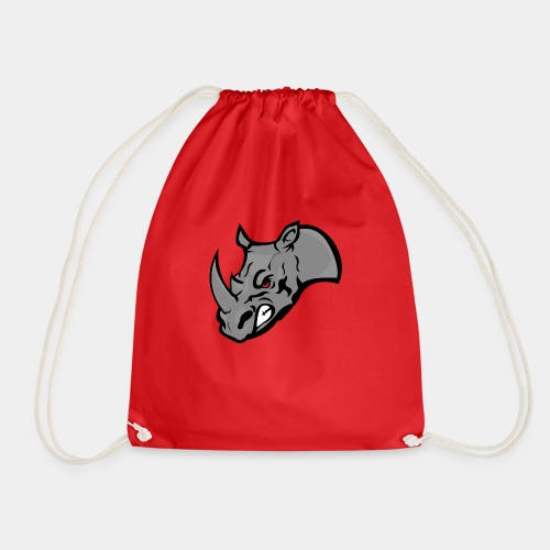 Rhino Mascot design - Drawstring Bag