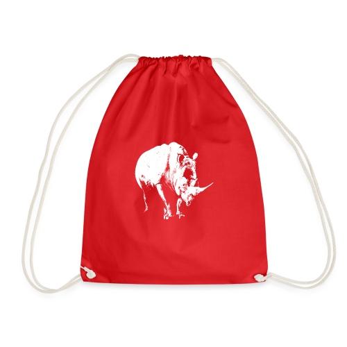 White Rhinoceros (highlights only) - Drawstring Bag