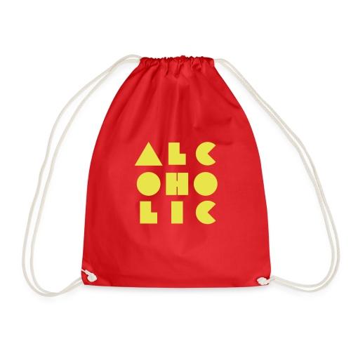 alcoholic - Drawstring Bag
