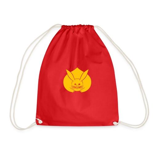 Usagi kamon japanese rabbit yellow - Drawstring Bag