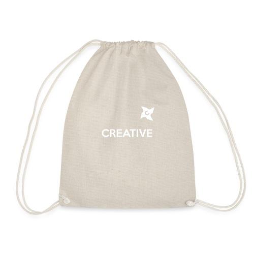 Creative simple black and white shirt - Sportstaske