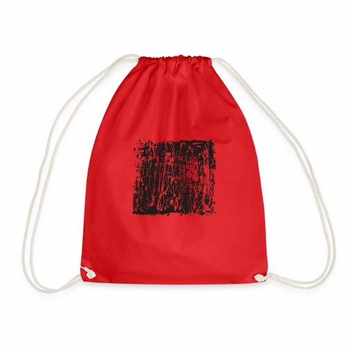 paintBlobBlack2 - Drawstring Bag