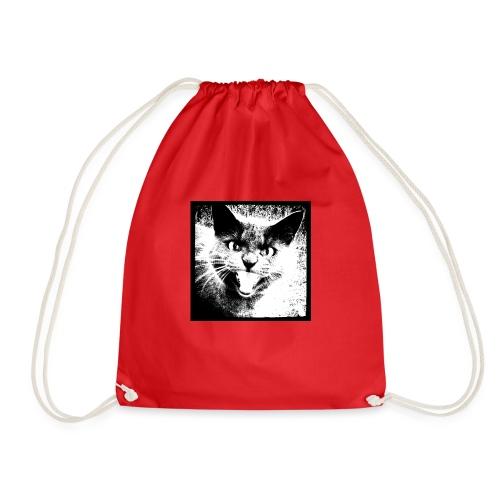 wild cat - Drawstring Bag