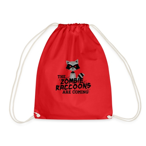 Cute and Funny Zombie Raccoon for halloween - Drawstring Bag