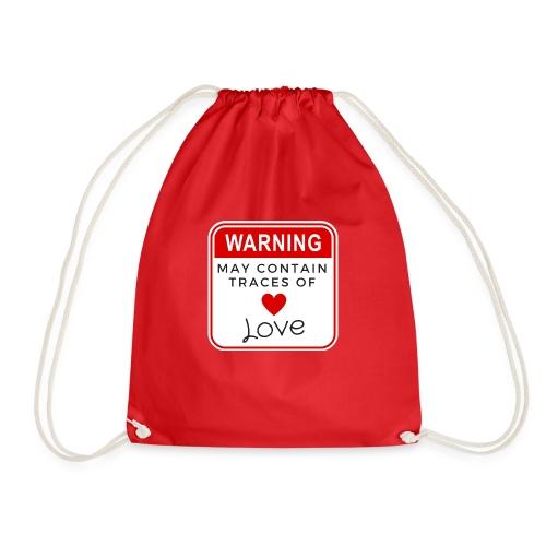 MAY CONTAIN TRACES OF LOVE - Drawstring Bag