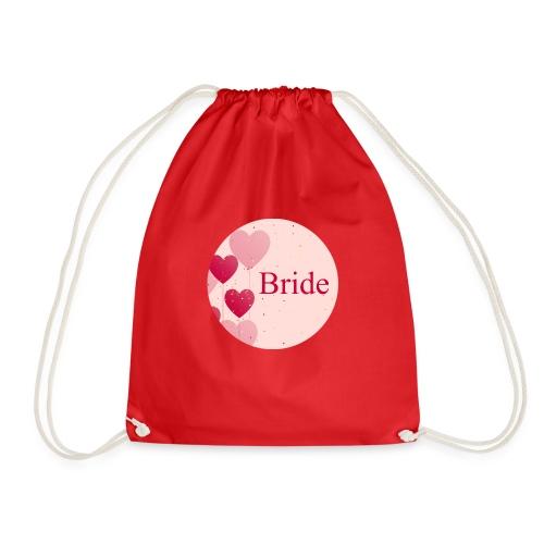 Bride Heart pink rund - Turnbeutel