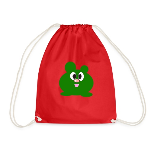 Green Monster by ArtShirt Kidz - Drawstring Bag