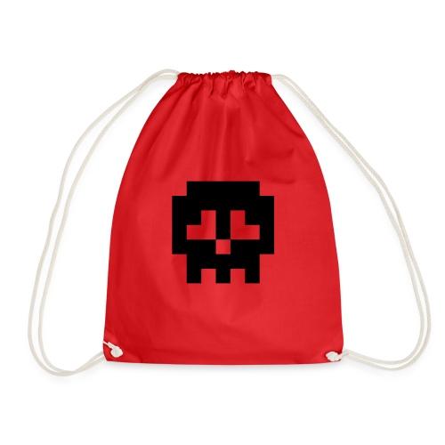 Retro Gaming Skull - Drawstring Bag